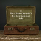 5 Must Have Carry On Items for Your Plane Trip
